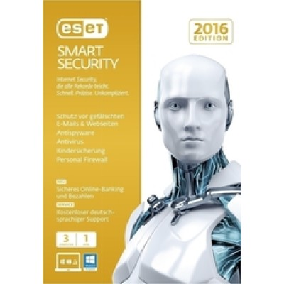 Eset Smart Security 2016 (Version 9) (3 licences , 1 Year)