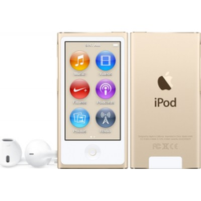 Apple iPod Nano 16GB 7th Generation 2015 Gold