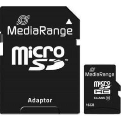 MediaRange microSDHC 16GB Class 10 with Adapter