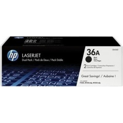HP 36A Black Toner 2-pack (CB436AD)