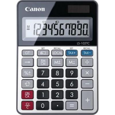 Canon Αριθμομηχανή Λογιστική LS-102TC 10 Ψηφίων σε Ασημί Χρώμα