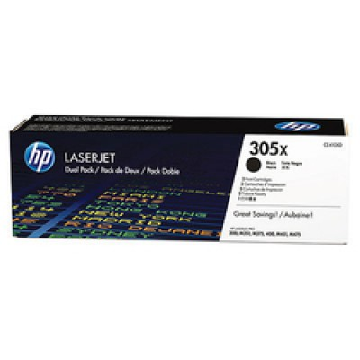 HP 305X Black Toner High Yield 2-pack (CE410XD)