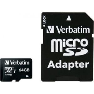 Verbatim Premium microSDXC 64GB U1 with Adapter