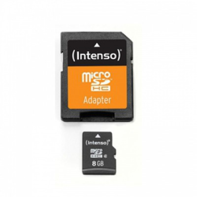 Intenso microSDHC 8GB Class 4 with Adapter