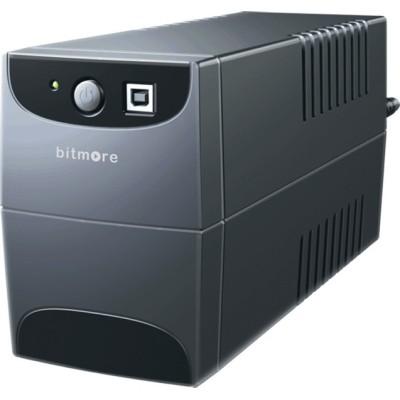 Bitmore U650 UPS Line-Interactive 650VA 100W με 2 Schuko Πρίζες