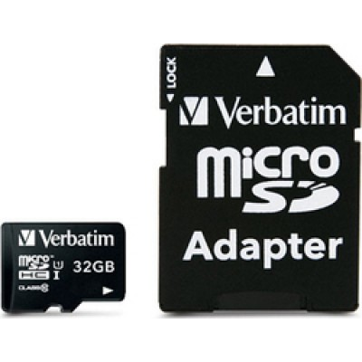 Verbatim Premium microSDHC 32GB U1 with Adapter
