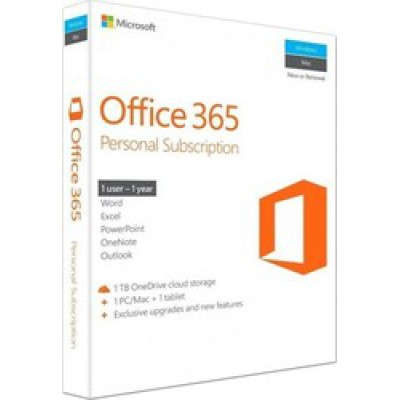 Microsoft Office 365 Personal Eng Medialess P2