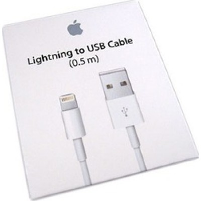 Apple USB to Lightning Cable Λευκό 0.5m (ME291)