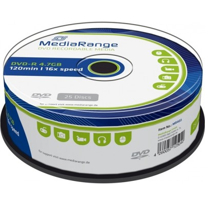 MediaRange DVD-R 4.7GB 25 pieces