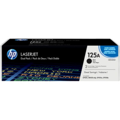 HP 125A Black Toner 2-pack (CB540AD)
