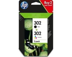 HP 302 Black/Tri-colour 2-pack (X4D37AE)