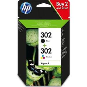 HP 302 Black/Tri-colour 2-pack (X4D37AE)