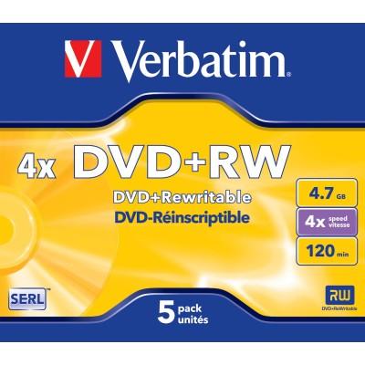 Verbatim DVD+RW 4.7GB 5 pieces