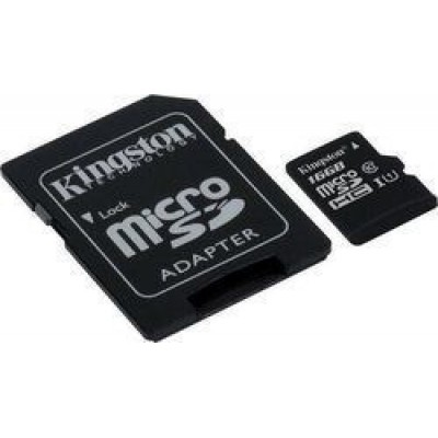 Kingston Canvas Select microSDHC 16GB U1 with Adapter