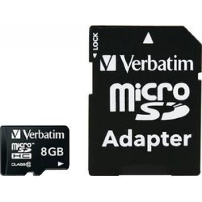 Verbatim Premium microSDHC 8GB U1 with Adapter