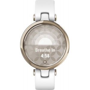 Garmin Lily Sport (Cream Gold Bezel with White Case and Silicone Band)