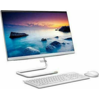 Lenovo IdeaCentre AIO 3 22ADA05 (Ryzen 3-3250U/8GB/512GB/W10) Foggy White US Keyboard