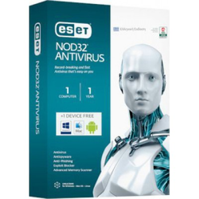 Eset NOD32 Antivirus 2016 (Version 9) (1 Licence , 1 Year)