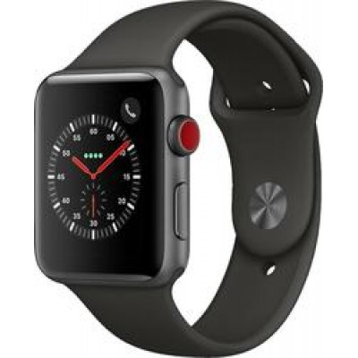Apple Watch Series 3 Cellular Aluminium 42mm Space Gray Aluminum & Black Sport Band