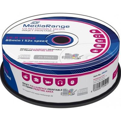 MediaRange CD-R Printable 700MB 25 pieces