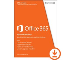 Microsoft Office 365 Home Premium All Languages Licence 1 Year Online