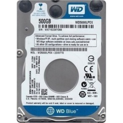 "Western Digital Blue 500GB 2.5"" (WD5000LPCX)"