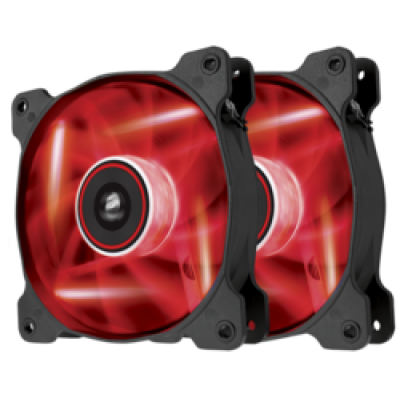 Corsair AF120 LED Red Quiet Edition High Airflow 120mm (Twin Pack)