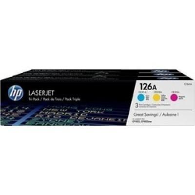 HP 126A C/M/Y Toner 3-pack (CF341A)