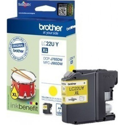 Brother LC-22UY Yellow High Yield