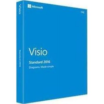Microsoft Visio Standard 2016 Eng Medialess