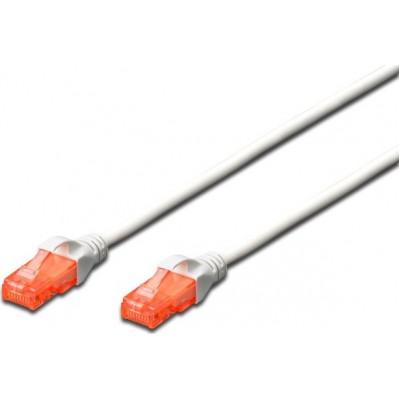 Digitus U/UTP Cat.6 Cable 0.25m Λευκό
