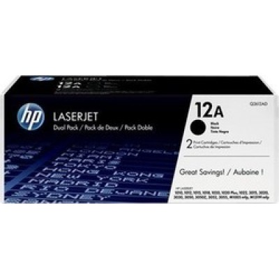HP 12A Black Toner 2-pack (Q2612AD)