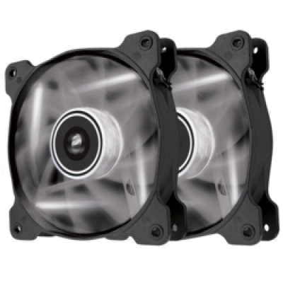 Corsair AF120 LED White Quiet Edition High Airflow 120mm (Twin Pack)