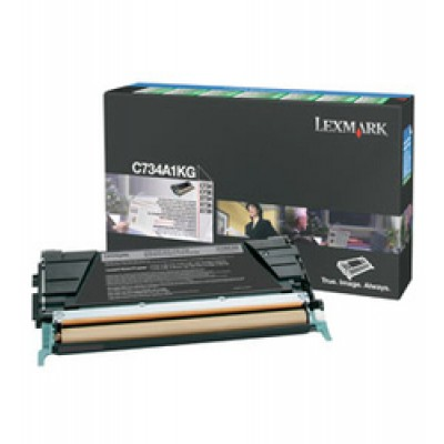 Lexmark C734A1KG Black Toner Cartridge