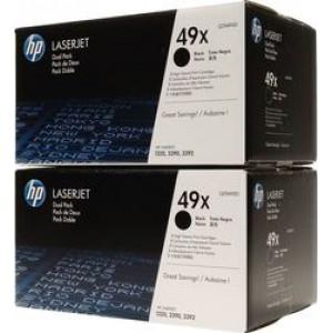 HP 49X Black Toner High Yield 2-pack (Q5949XD)