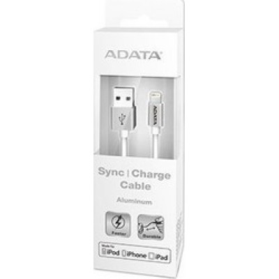Adata Regular USB to Lightning Cable Silver 1m (AMFIAL-100CMK-CSV)