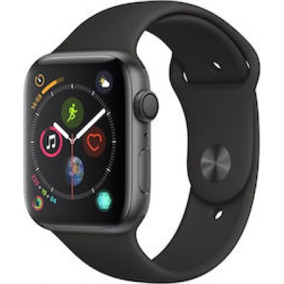 Apple Watch Series 4 GPS Space Grey Aluminium (44mm) Case, Black Sport Band