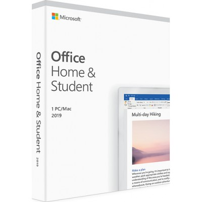Microsoft Office Home and Student 2019 English 1 User (Medialess)