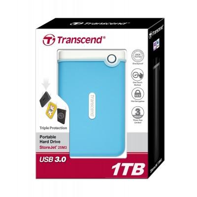 Transcend Storejet 1TB USB 3.0 Blue
